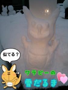 ワラビー雪だるま